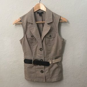 Cotton Linen Vest by BCX